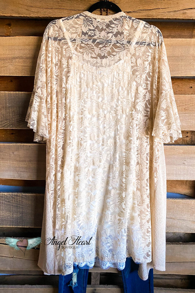 Ruffled Love Knit Cardigan - Taupe