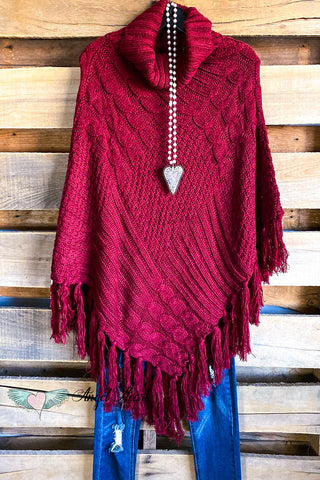 Casual Cuddle Blanket Shawl - Red/Black
