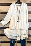 Expression of My Heart Top/Tunic - Cream
