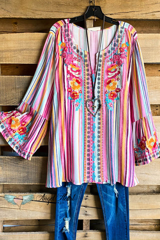 AHB EXCLUSIVE: Sweet Talker Tunic - Pink/Blue