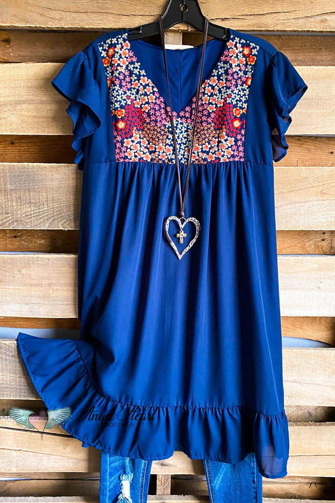 Sea To Remember Dress - Navy