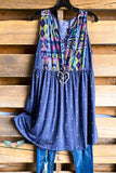 Summer Strolling Tunic - Navy