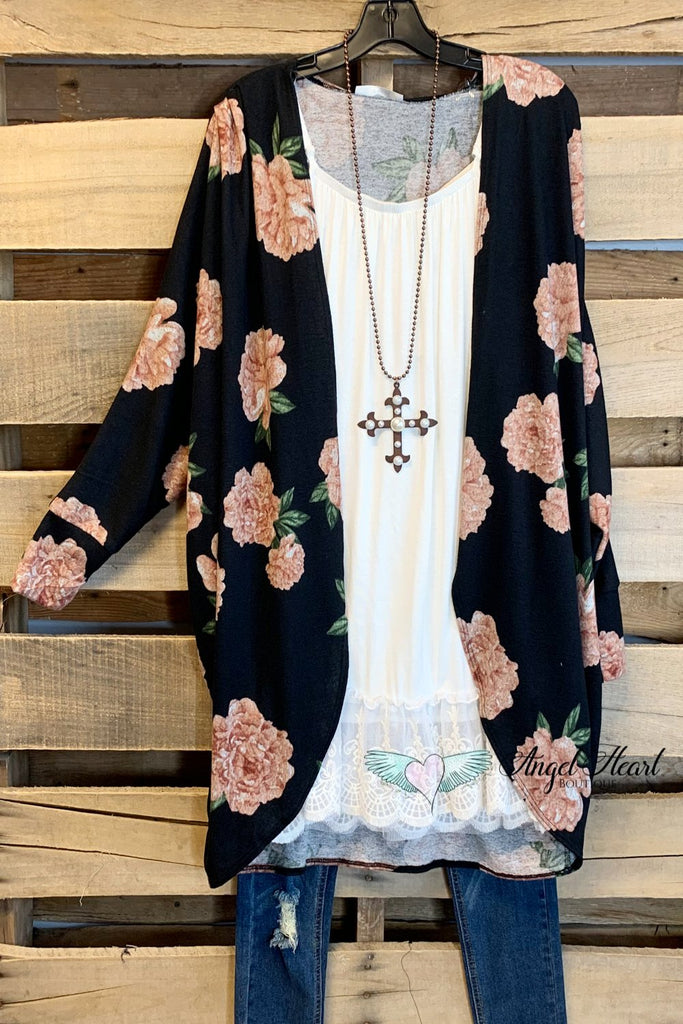 All The Roses Cardigan - Black