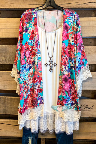 AHB EXCLUSIVE: Twisted Fate Kimono - Blush - SALE