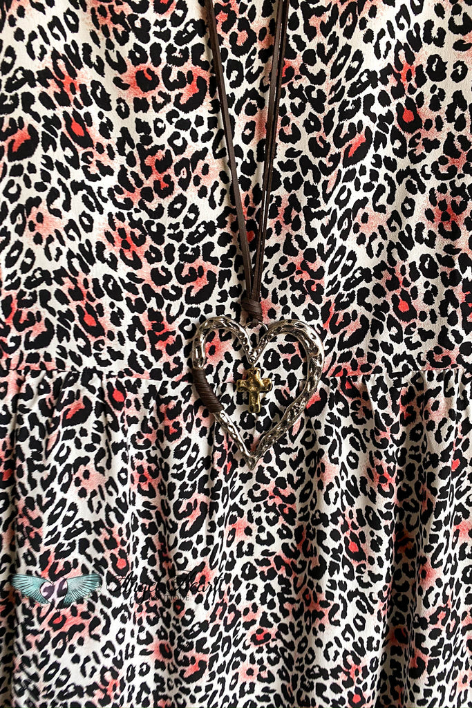 One Of The Girls Dress - Leopard/Fuschia