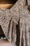 Missing Nothing Dress - Taupe/Leopard