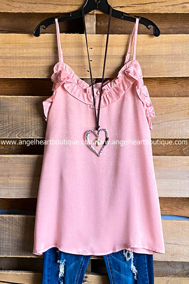 Burning Love Satin Cami - Baby Pink