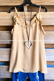 Burning Love Satin Cami - Beige