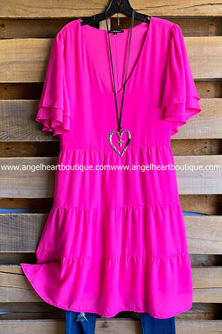 Pretty Heart Dress - Black