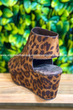 Countless Steps Wedges - Leopard
