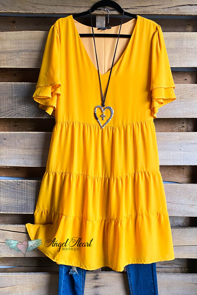 Pretty Heart Dress - Mango - SALE