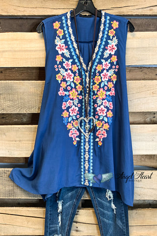 Put Your Arms Around Me Cardigan - Blue