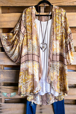 AHB EXCLUSIVE: Sweet Smiles Lace Cardigan - Mocha