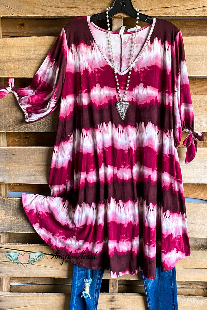 Tropical Tans Dress - Burgundy