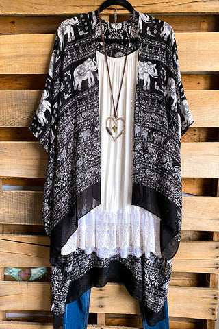Peaceful Skies Tunic Top - Black