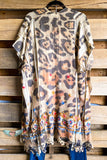 AHB EXCLUSIVE: All the Goodness in the World Kimono - Taupe/Leopard