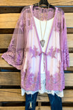 Lace & Love Cardigan - Lavender