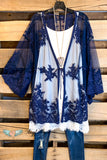 Lace & Love Cardigan - Navy