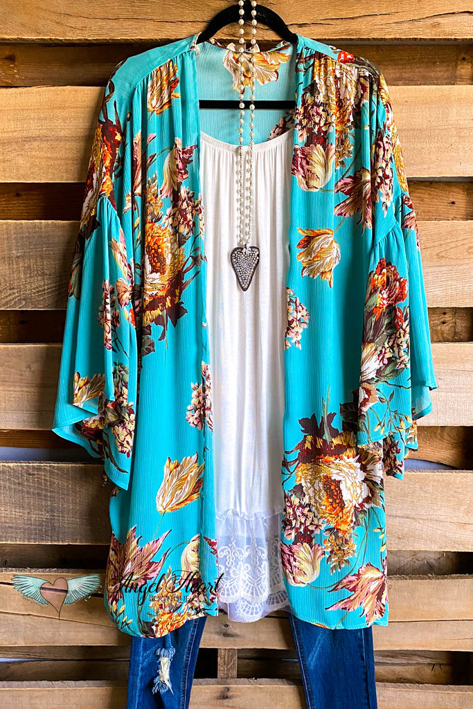 The Art Of Joy Kimono - Mint