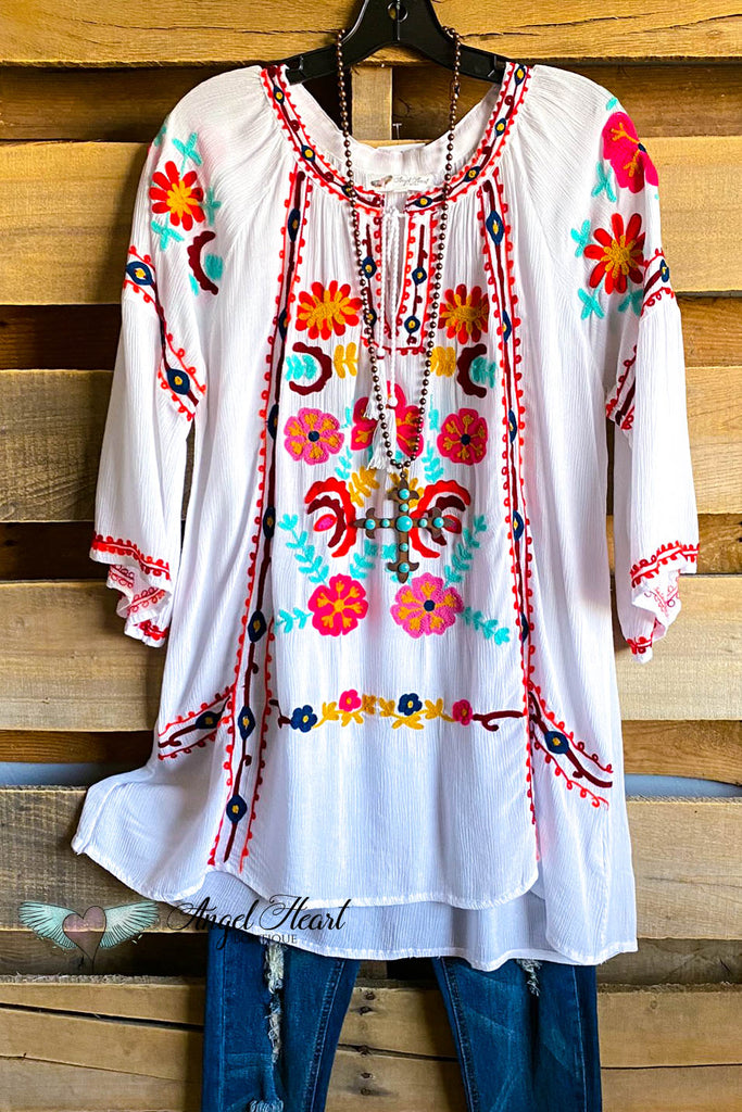 AHB EXCLUSIVE: Faith In Love Tunic - White