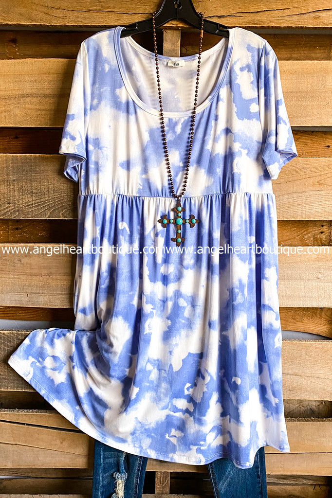 Cloud Dreams Midi Dress - Blue -  SALE
