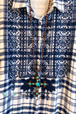 AHB EXCLUSIVE: Fall Days Tunic/Dress - Navy- Flannel - 100% COTTON - SALE