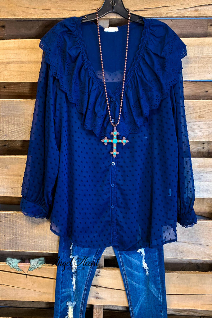Southern Charm Top - Navy