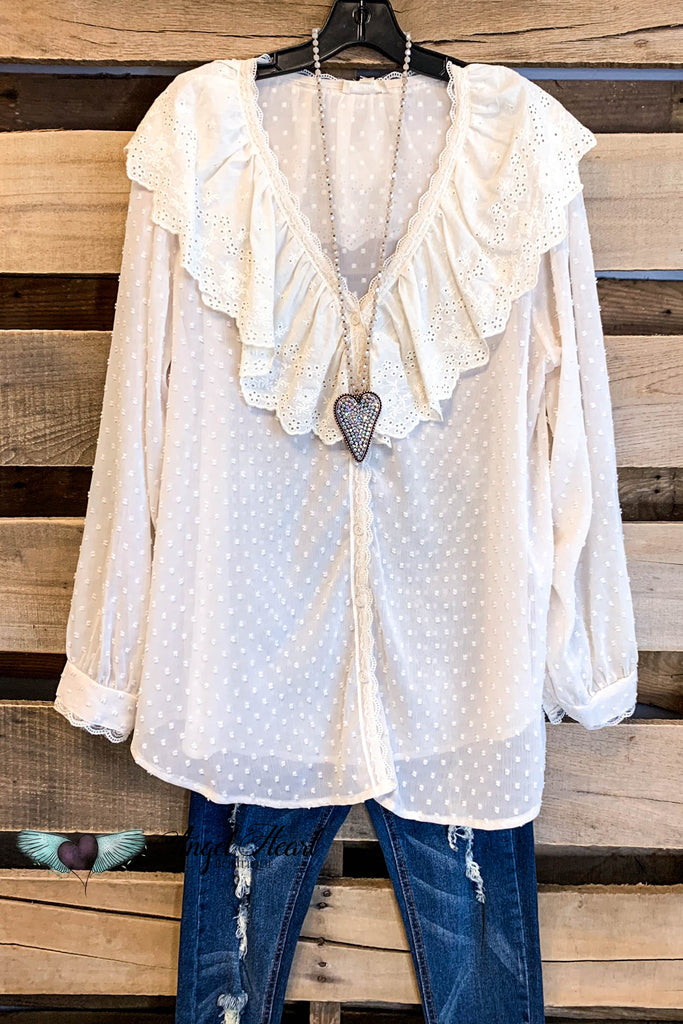 Southern Charm Top - Natural - SALE
