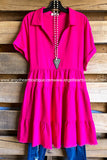 Warm Sun Dress - Hot Pink