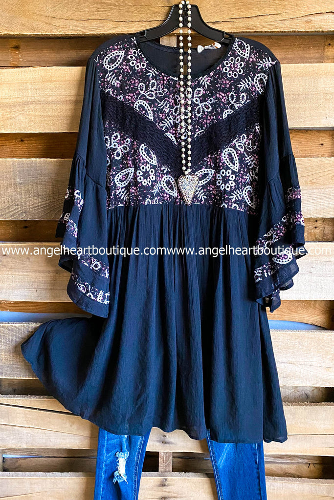 Paisley Perfection Dress - Black