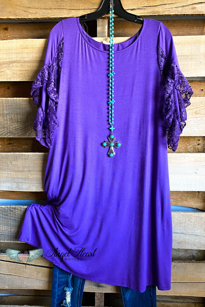 Lace Away Tunic/Dress - Violet
