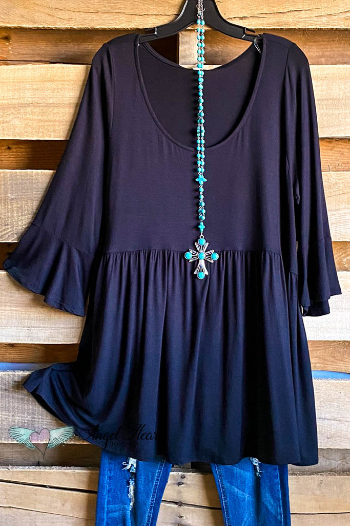 Straight Downtown Tunic - Black
