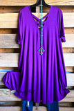 Iconic Smiles Dress - Violet