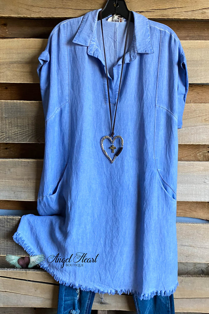 Extra Scoop Dress - Denim