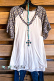 Taking The Night Top - Ivory/Taupe