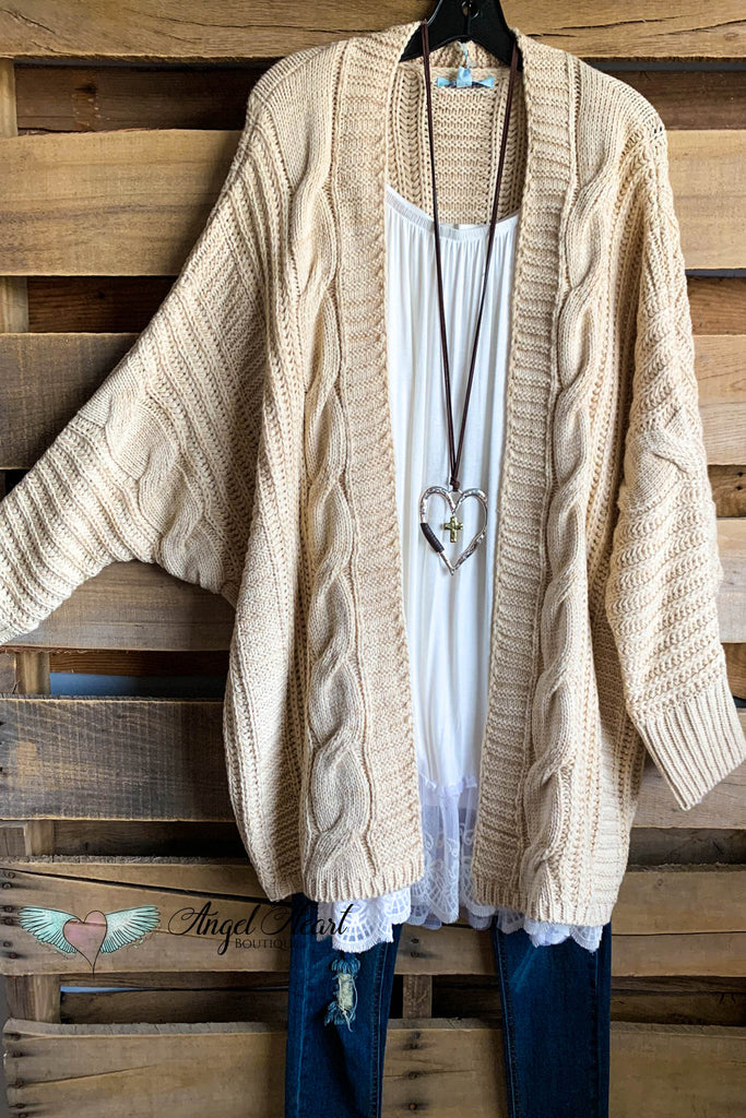 Snowy Mountains Oversized Cardigan - Taupe - SALE