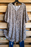 French Terry Swing Dress - Leopard