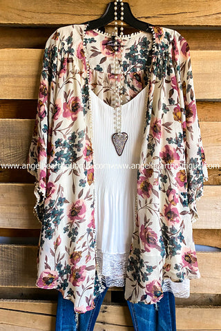 AHB EXCLUSIVE: Finding My Balance Kimono - Cranberry