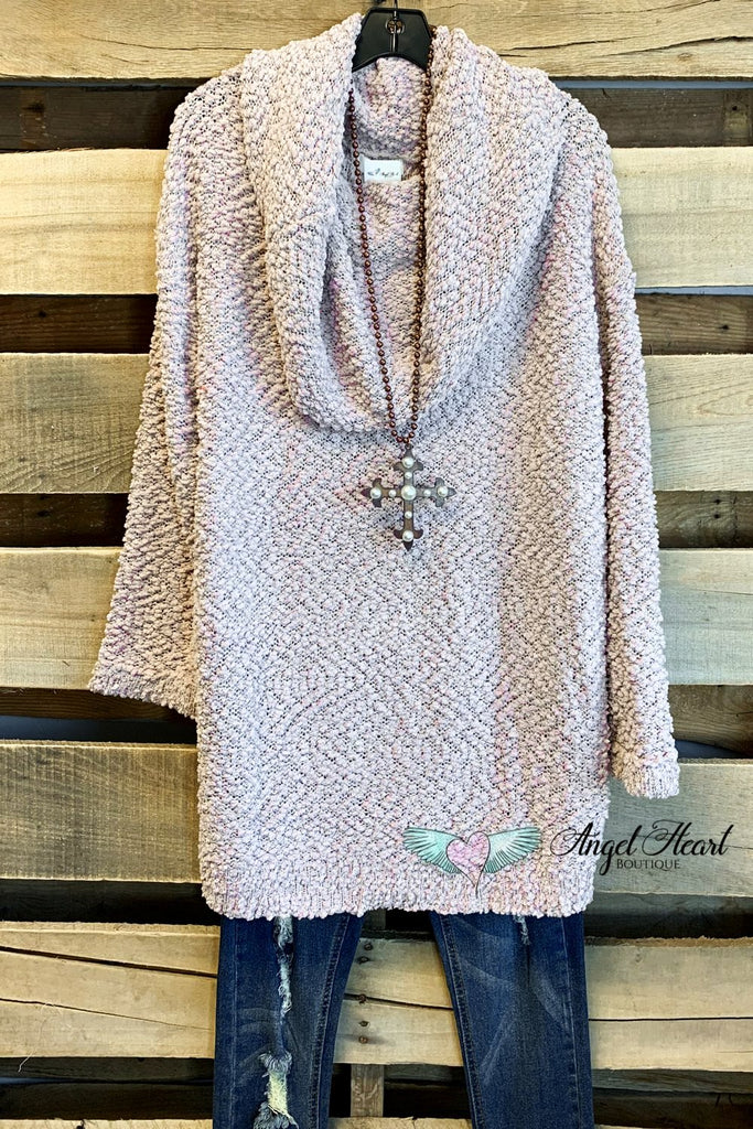 Dreamiest Days Sweater - Lt Mauve- SALE