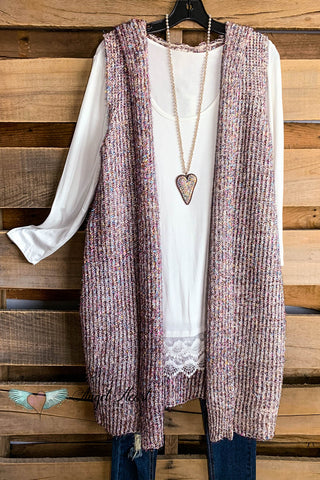 Forever and A Day Vest - Maroon - SALE