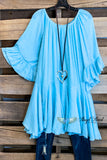 AHB EXCLUSIVE: The It Girl Oversized Loose Fitting Tunic - Light Blue