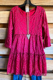 AHB EXCLUSIVE: Beautiful Melodies Tunic/Dress - Crimson