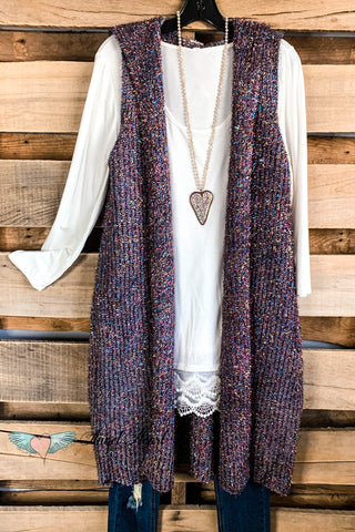 Fall Vibes Vest - Blue - SALE