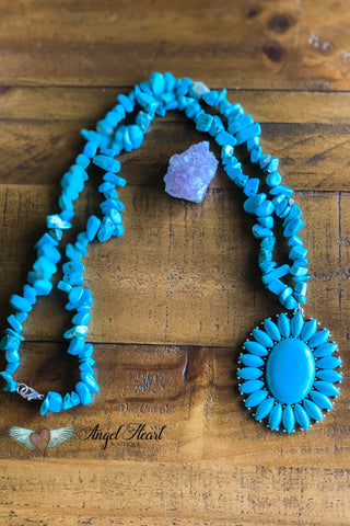 On A Journey Necklace - Turquoise