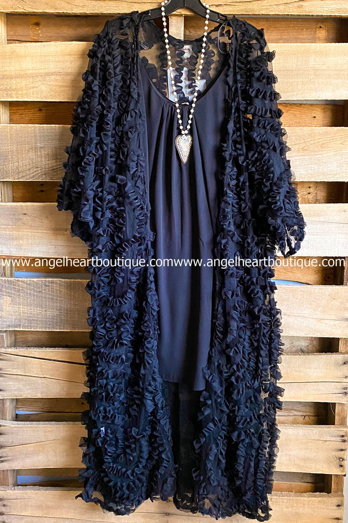 Back Home Duster - Black - SALE