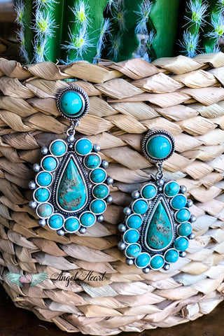 AUTHENTIC TURQUOISE STONE - Lisa Earrings