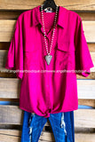 Dreams Of Love Tunic - Berry