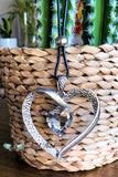 Love Sign Long/Statement Necklace - Heart Pendant