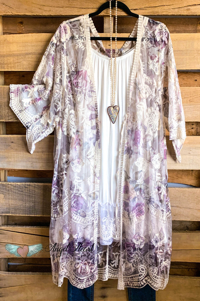 AHB EXCLUSIVE: More Than Just a Friend Lace Kimono - Rose