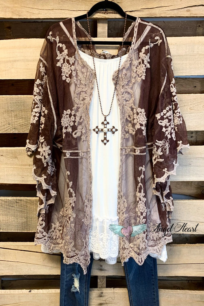 AHB EXCLUSIVE: Finding Perfection Kimono - Brown